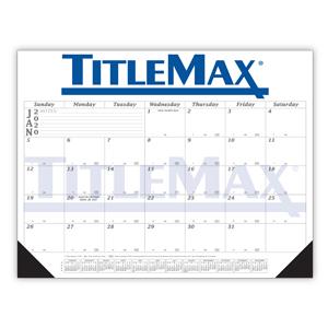 12 Month Desk Calendar