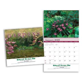 Gardens Wall Calendar - Spiral
