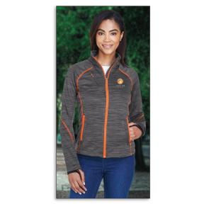 North End Ladies' Flux Mélange Bonded Fleece Jacket