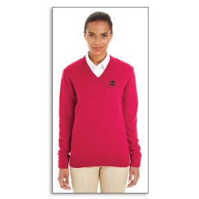 Harriton Pilbloc™ V-Neck Sweater - Ladies'
