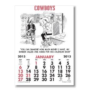 Press-N-Stick Calendar - Cowboy