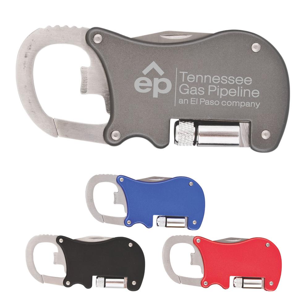 Carabiner Light/Opener/Knife